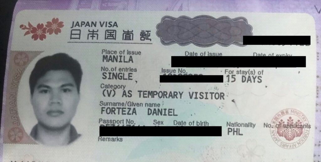 Dan Travels How To Apply For A Japanese Tourist Visa With Your Philippine Passport 2019