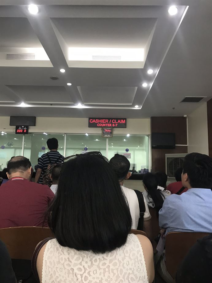 Waiting Area at the Chinese Embassy in Manila