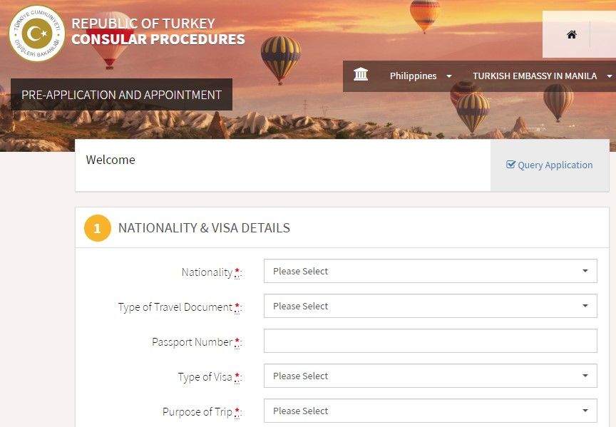 Website - Turkish tourist visa