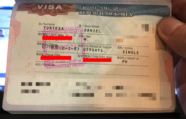 Dan Travels How To Apply for A South Korean Tourist Visa With Your Philippine Passport 2019