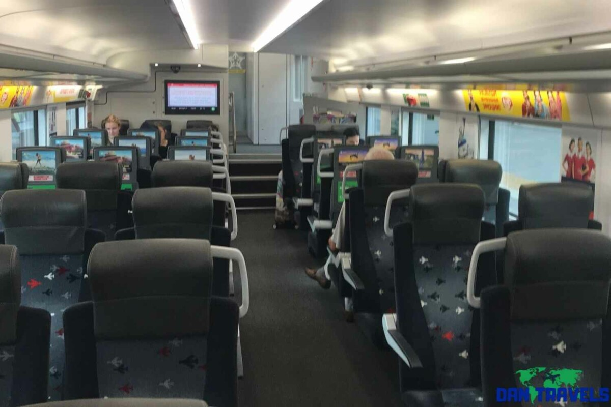 Russia Itinerary. Day 1: Inside the Aerotrain | Dantravels.org