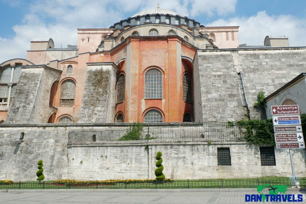 The other side of Hagia Sophia Turkey Itinerary