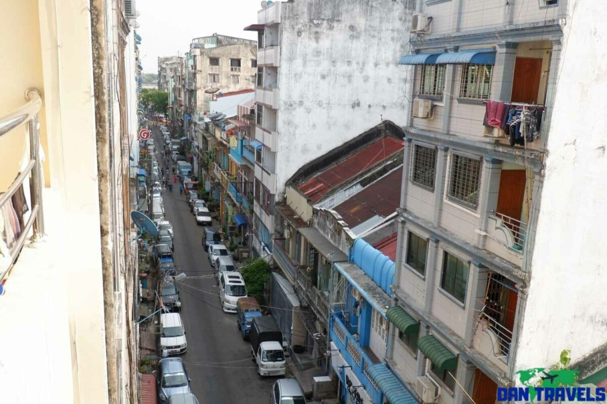 View from my window at Agga Youth Hostel in Yangon | Dantravels.org