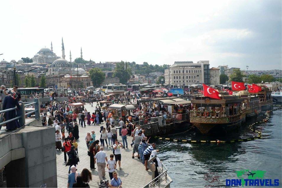 The crowd at Eminönü Pier Turkey itinerary
