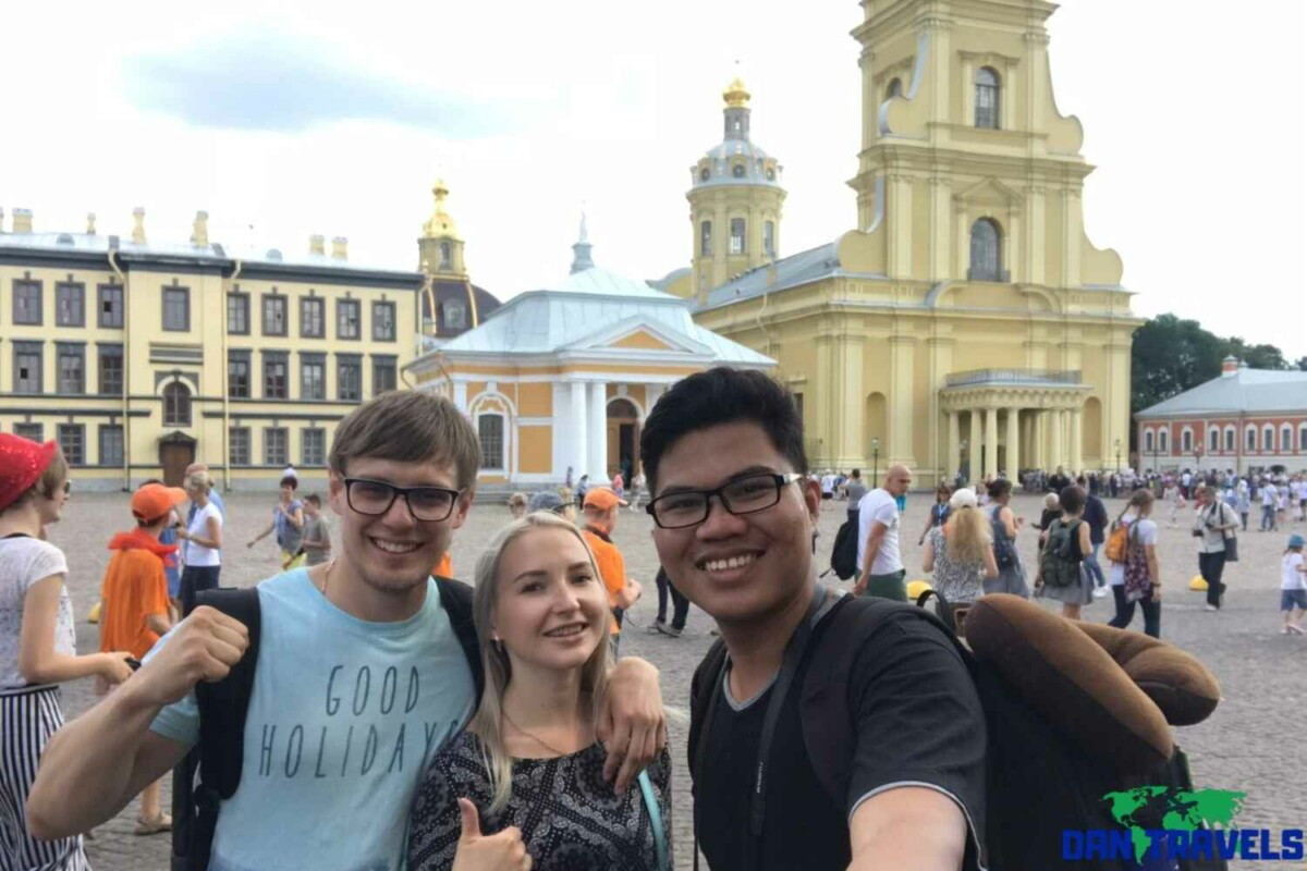 Day 4: My Russian guides Dima and Lena at the Peter and Paul Fortress | Dantravels.org