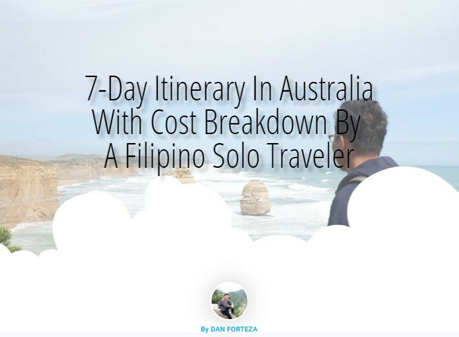 7-Day Australia Itinerary With Cost Breakdown By A Pinoy Solo Traveler