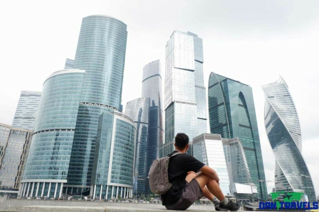 Skyscrapers at downtown Moscow Russia itinerary