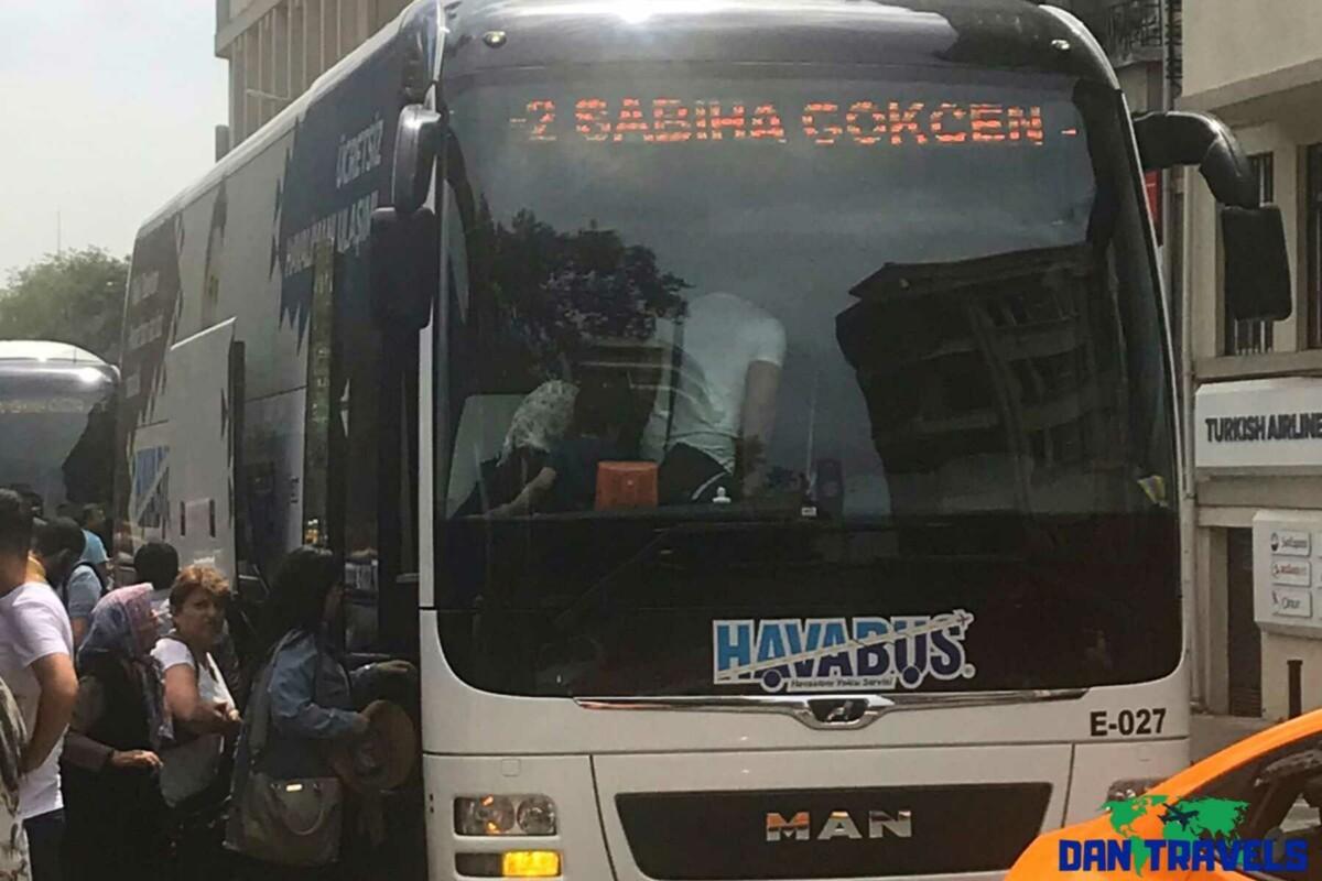 Havabus at Sabiha Goken Airport Turkey itinerary