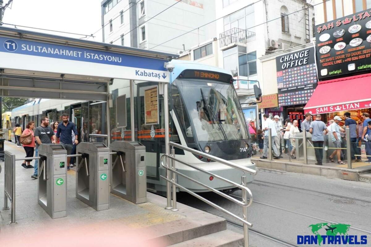 Sultanahmet station Turkey itinerary