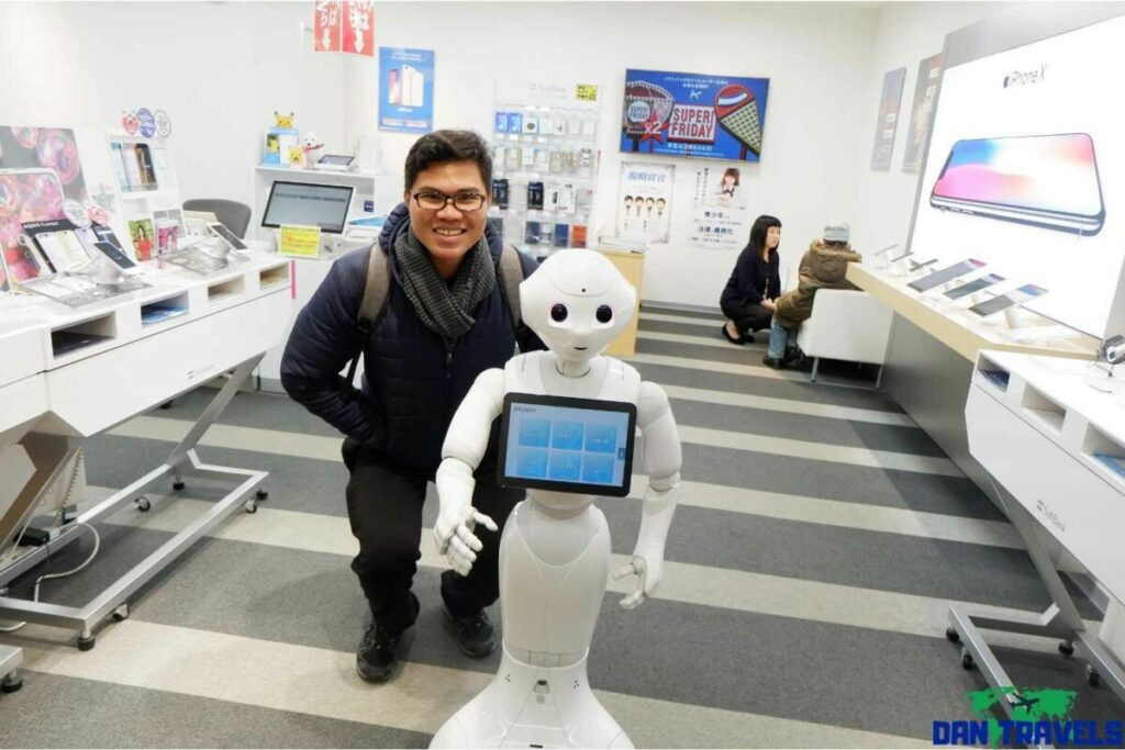 Meet Pepper the humanoid robot. I met him at Tanukikuji Underground Mall | Sapporo itinerary