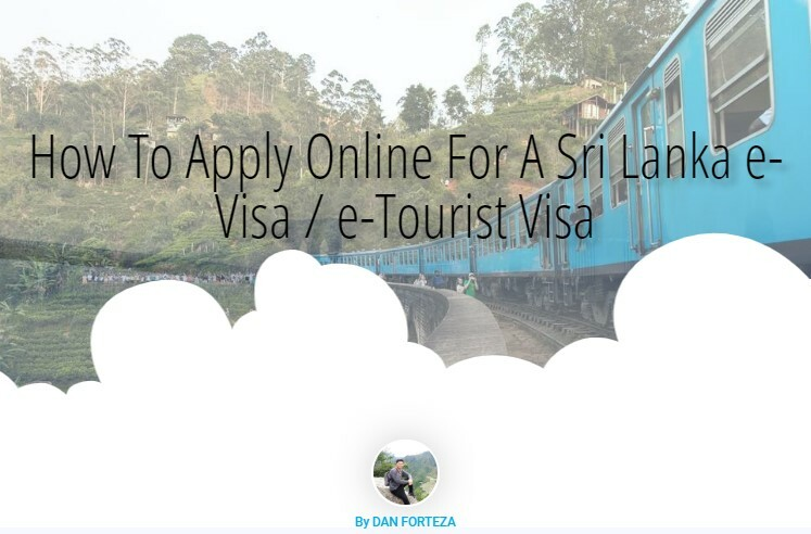 How To Apply Online For A Sri Lanka e-Visa / e-Tourist Visa in 2019
