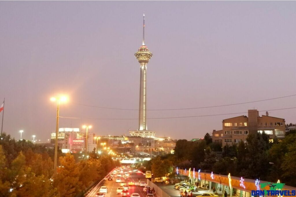 Milad Tower from my Tehran itinerary