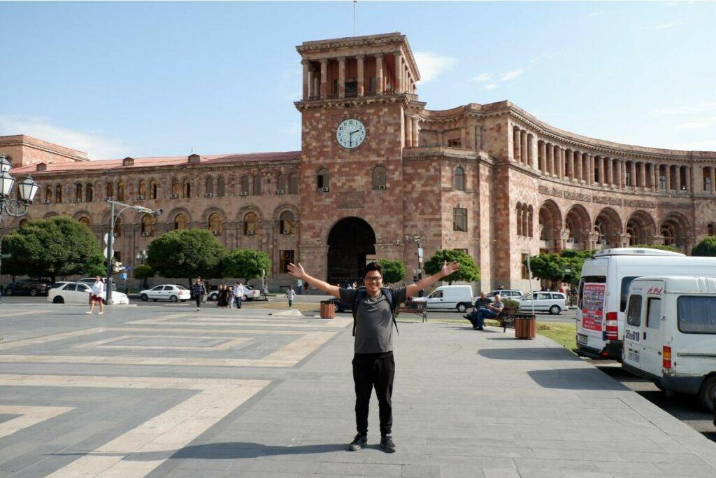 Republic Square in Armenia