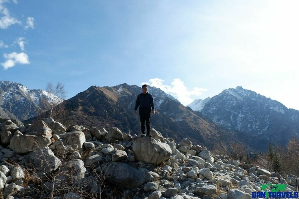 Ala-Archa National Park in Kyrgyzstan with my Kyrgyzstan visa