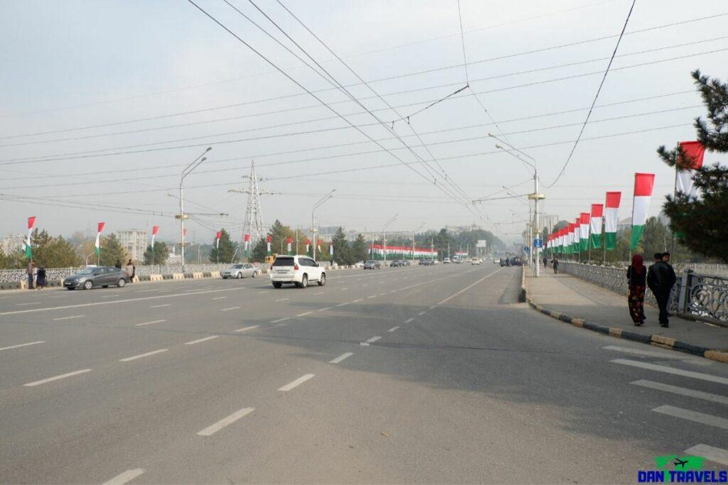 Ismail Somoni Avenue in Dushanbe