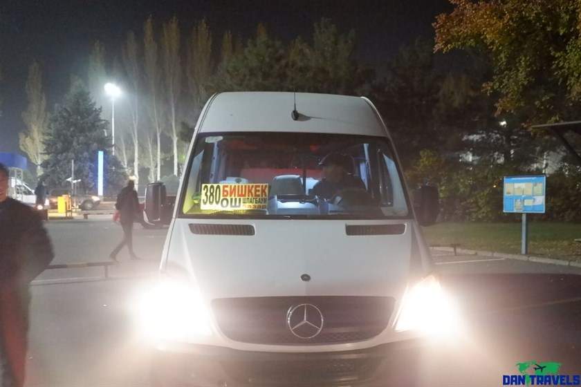 A Marshrutka (Minivan) in Bishkek | Dantravels.org