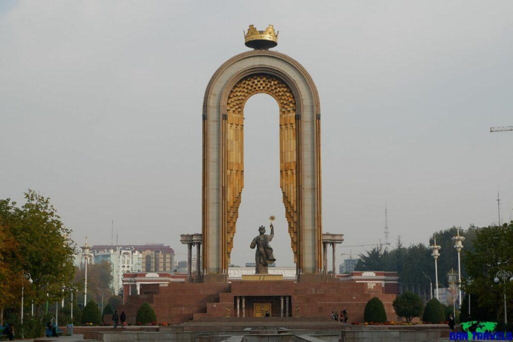 Statue of Ismoil Somoni in Dushanbe