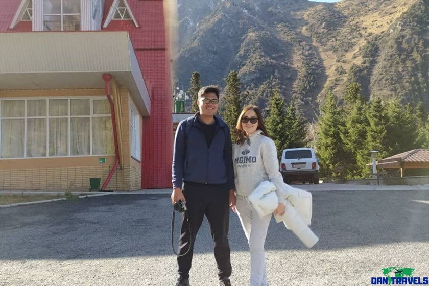 Mirel and I at Ala Archa Gorge | Dantravels.org
