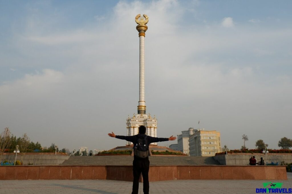 The Independence Monument Dushanbe