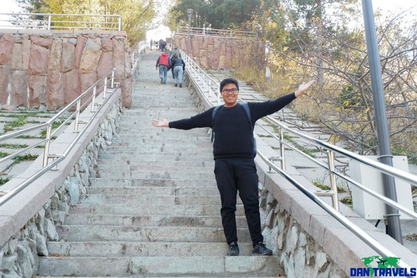 The never-ending stairs at Medeu | Dantravels.org