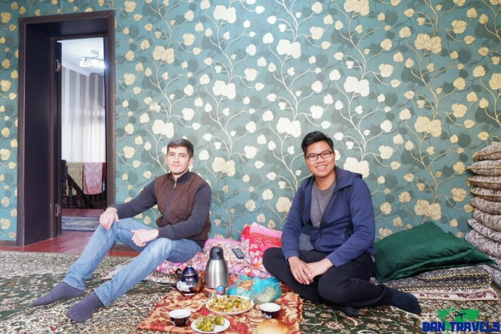 My friend Dilshod at his home in Dushanbe Couchsurfing