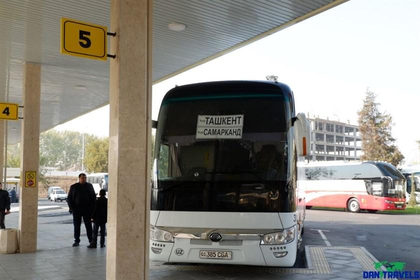 Tashkent to Samarkand bus at Tashkent Avtovokzal