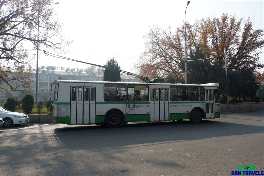 The trolley bus in Dushanbe