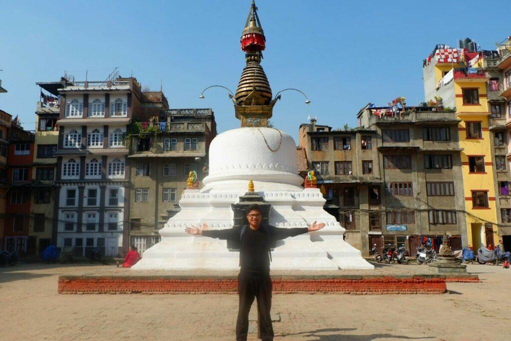 Vaskarkirti Mahavihar (White Chaitya) in Kathmathdu Nepal