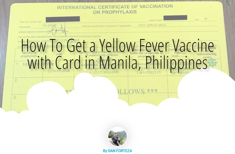 How To Get A Yellow Fever Vaccine for Filipino Travelers