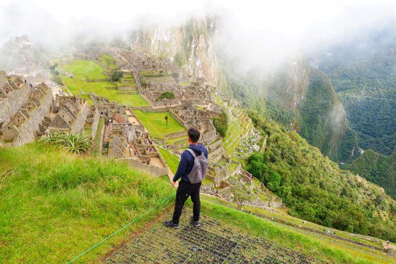 Ruins in Machu Picchu Peru