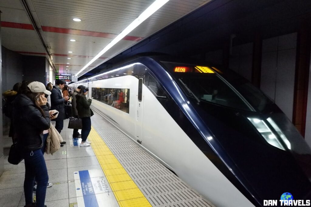 Day 0: Train from Narita Airport to downtown Tokyo