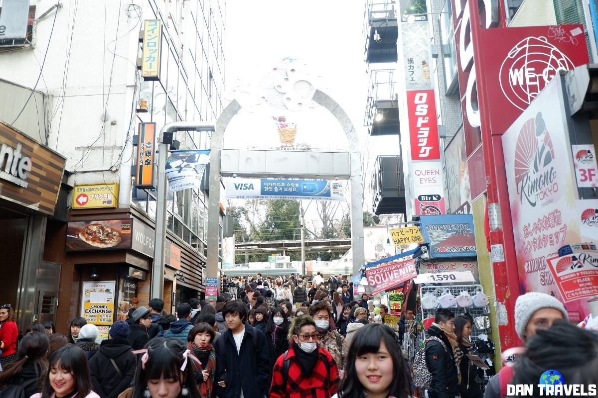 Day 3: The overly crowded Takeshita street in Harajuku | Dantravels.org