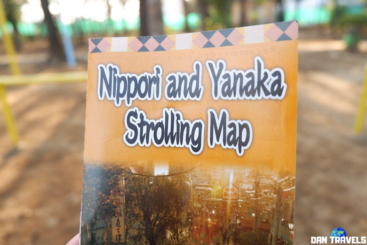 Day 1: Nippori-Yanaka strolling map | Dantravels.org