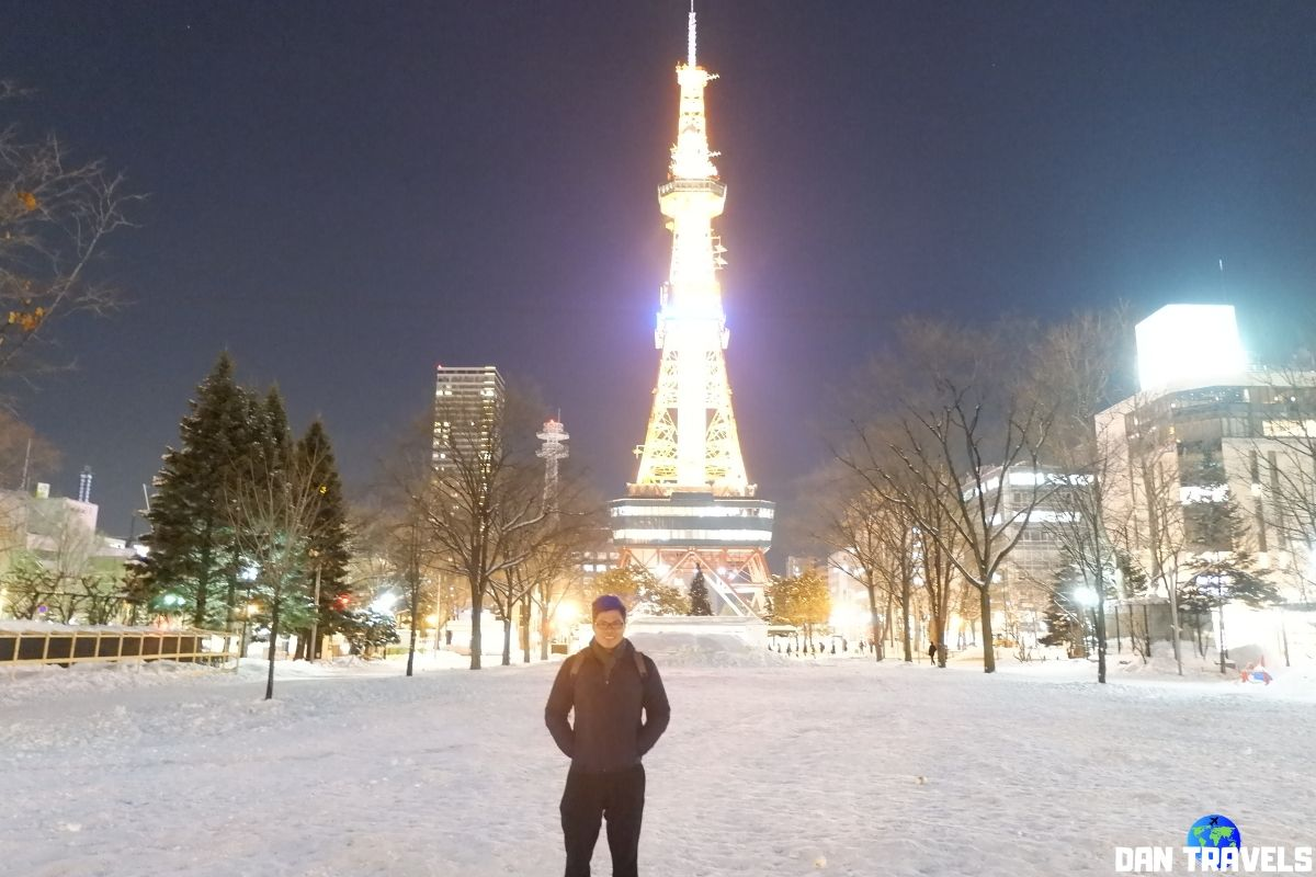 Day 5: Sapporo TV Tower viewed from Odori Park | Dantravels.org