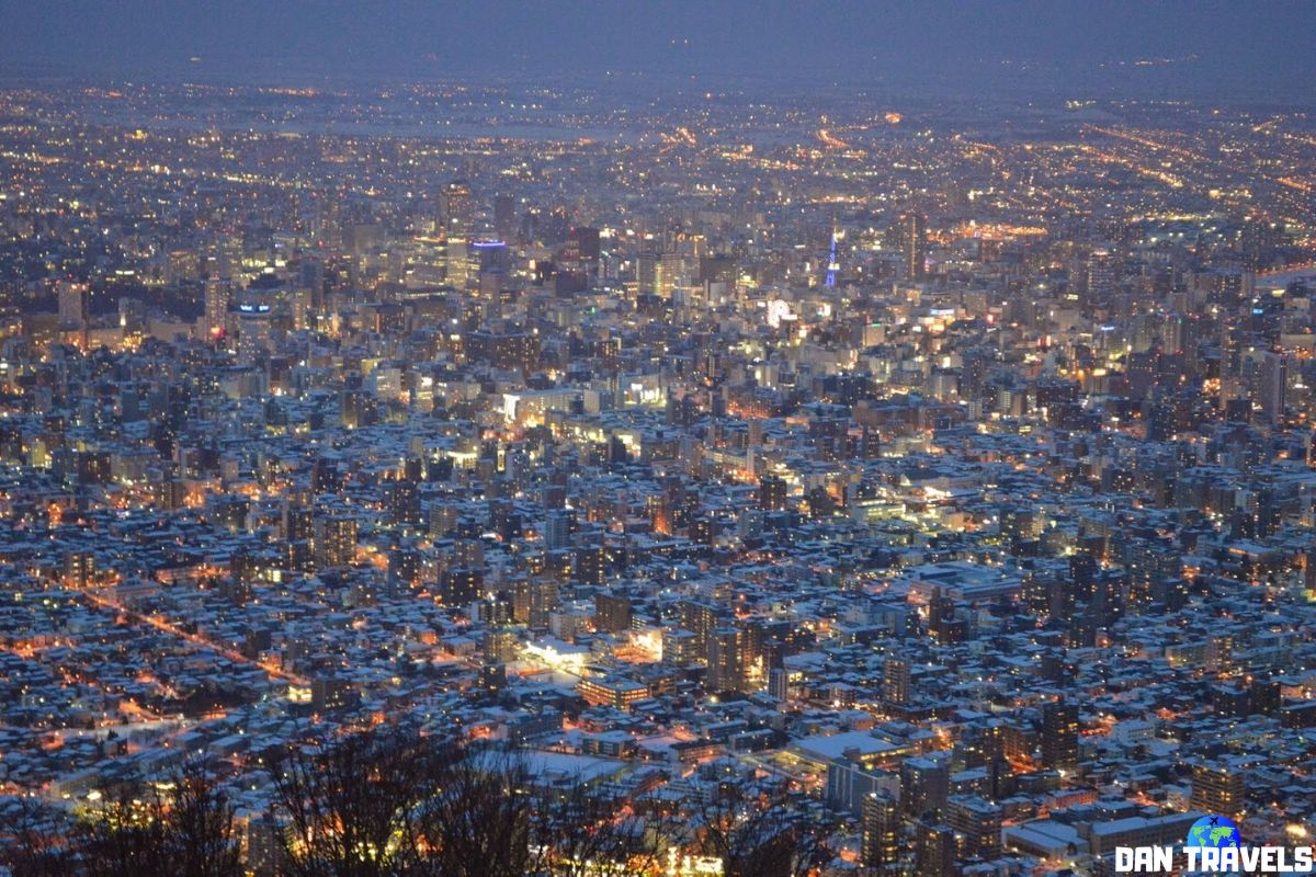 Day 6: The winter wonderland of Sapporo viewed from Mt. Moiwa | Dantravels.org