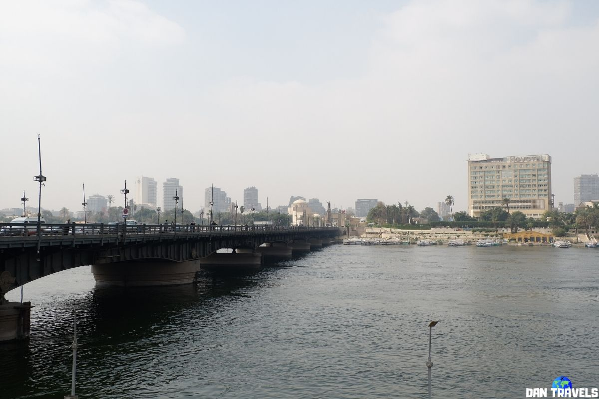 Day 1: The Nile River and the Qasr Al-Nil Bridge in downtown Cairo