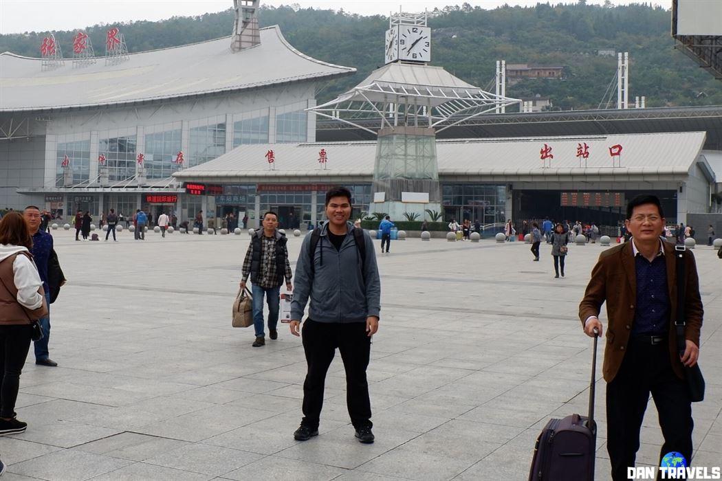 The moment I arrived in Zhangjiajie Railway station