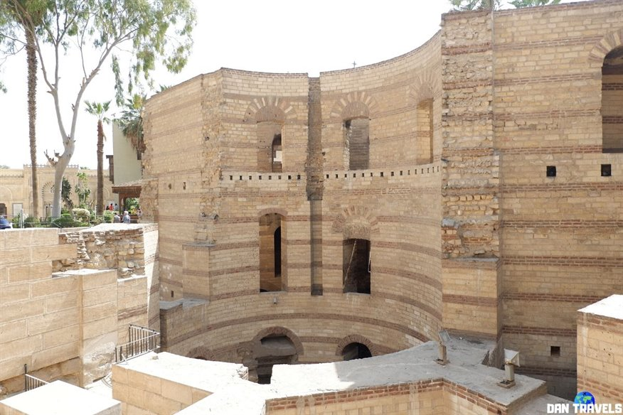 Day 1: Prior to entering the Coptic Museum, you'll notice this large ruins called Babylon Fortress.