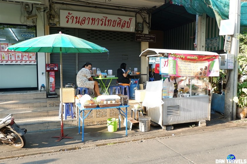 The nearby food stall where I get my food. Only takeout is allowed as per Thai authorities directives.