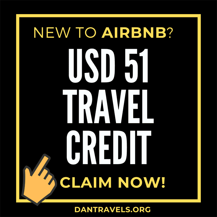 AirBNB 51 USD travel credits