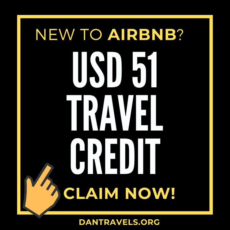 AirBNB 51 USD travel credits